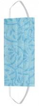 S-B2.1  Cotton Fashion Mask- Washable - Individually Packed - Blue