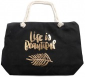 Z-B3.1 BAG530-004 Beach Bag Life is Beautiful