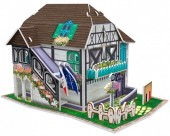 F-F10.1 W3120H 3D Puzzle Flower House France - 31pcs