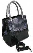 T-C4.2 BAG-943 Luxury Leather Bag Snake 35x27x13cm Black