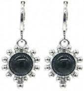 G-E4.4 E532-004S Earrings Dots Black-Silver