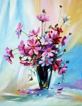 Z-D3.2 RA3063 Paint By Number Set Fox Flowers 40x30cm