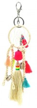 H-E5.1 KY536-010 Bag- Key Chain Tassels- Shells and Dreamcatcher