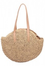 Z-E2.5 BAG324-003 Round Woven Straw Bag