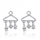 D-B20.2 925 Sterling Silver CZ 18x12mm