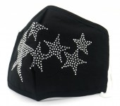 F-E9.1 FM042-016A  - Cotton Fashion Mask with Room for Filter Washable - Crystals