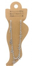 B-D14.1  ANK2110-020 Stainless Steel Anklet Stars
