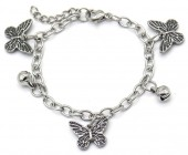E-B20.1 B2053-004 S. Steel Bracelet Butterflies 14-17cm For Kids