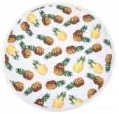 BT003-001-292 Roundie Beach Towel 150cm Pineapples