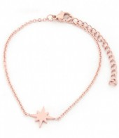 A-D6.2 B1842-003 Stainless Steel Bracelet on Giftcard with Northern Star Rose Gold