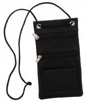 S-A7.1 Leather Safety Bag for Storing Valuables 17x10cm Black
