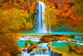 R-K6.1 GS290 Diamond Painting Set Waterfall 50x40cm