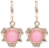 D-D19.3 E532-001R Fantasy Earrings Pink Rose Gold
