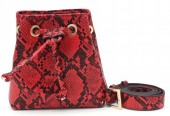 T-C3.3 BAG202-002 Pouch Belt Bag Snake 15x15x7.5cm incl 90cm Belt Red