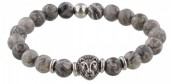 A-B20.5 S. Steel Bracelet with Semi Precious Stones Grey