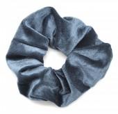 S-H1.4   H305-009 Scrunchie Velvet Dark Grey