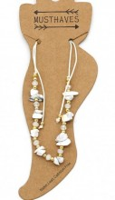 C-A21.1 ANK221-017A Anklet with Stones White