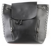 L-C3.2 BAG120-002 Trendy Backpack with Studs Black 40x33cm