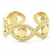C-A5.2 R2033-001G S. Steel Ring Adjustable Gold