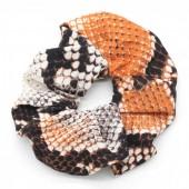 S-D3.4 H305-011 Scrunchie Snake Orange