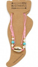 A-D15.2 ANK221-011 Anklet with Shell Pink