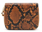 X-H9.1 WA321-001 Small Wallet Snakeskin Brown