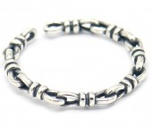 E-C19.5  SR104-155 925S Silver Ring Adjustable Chain
