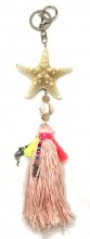 A-F15.1 KY219-001 Key-Bag Chain with Starfish Pink