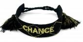 C-C4.1 B2030-005 Woven Bracelet CHANCE Black