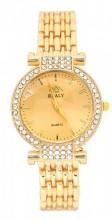 WA203-004 Quartz Watch Metal with Crystals Gold