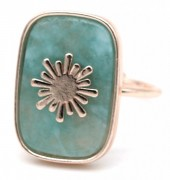 G-E5.3 R532-009R Adjustable Ring Stone with Sun Rose Gold