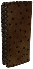 S-H3.2  Leather Wallet with Cowhide Spotted 21x10x3cm