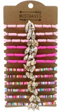 X-N4.1 B2135-004 Bracelet Set with Shell - 12pcs