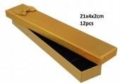 Z-F3.1 PK424-076 Giftbox for Jewelry 21x4xcm Gold 12pcs