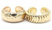 E-A21.2 R2019-003G Ring Set 2pcs Adjustable Gold