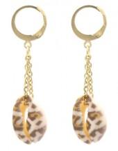 F-F6.2 E2121-060G S. Steel Earrings 5x1cm Gold