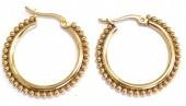 B-B17.4  E2138-002G S. Steel Earrings Balls 2.7cm Gold