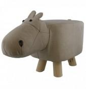 Z-G1 STOOL506-001 PU Stool Hippo Grey