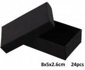 L-E6.1 Giftbox for Pendant-Ring-Earrings 5x8x2.6cm Black 24pcs