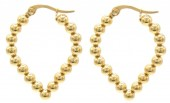 A-B6.5 E2138-007G S. Steel Earrings Balls 3x2.5cm Gold