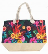 Y-C2.1 BAG528-014 Beach Bag Flowers 36x52cm