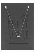 B-C8.2 SN104-008 Necklace 925 Sterling Silver Moon