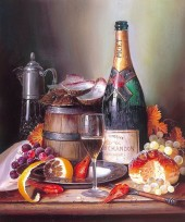 Y-A4.4 KTL935 Paint By Number Set Champagne 40x30cm