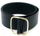 T-N6.1  BELT511-005 PU Waist Belt 100x6.5cm Black
