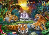 R-M6.2 GS297 Diamond Painting Set Tigers 50x40cm