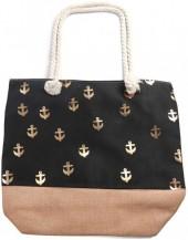 Y-E6.3 BAG530-003 Beach Bag Anchors Gold-Black