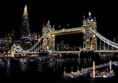 R-E2.1 Scratch Painting - Tower Bridge  - 40x28cm