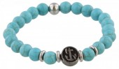 A-A22.4 S. Steel Bracelet with Semi Precious Stones Turquoise