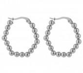 A-C4.2 E2138-008 S. Steel Earrings Balls 3x2.5cm Silver