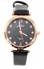 B-F17.5 W203-007 Quartz Watch with Pu Strap 30mm Black